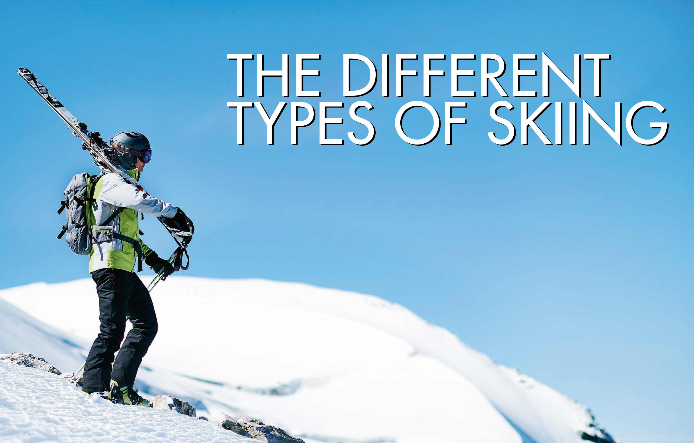 types of skiing banner