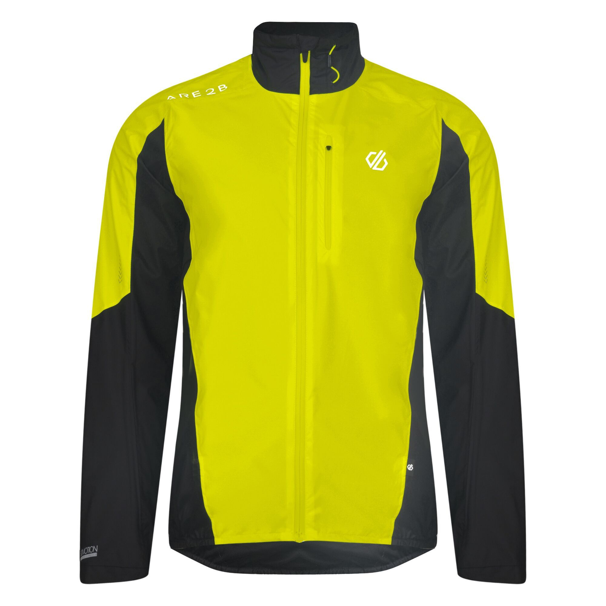 Yellow reflective running jacket