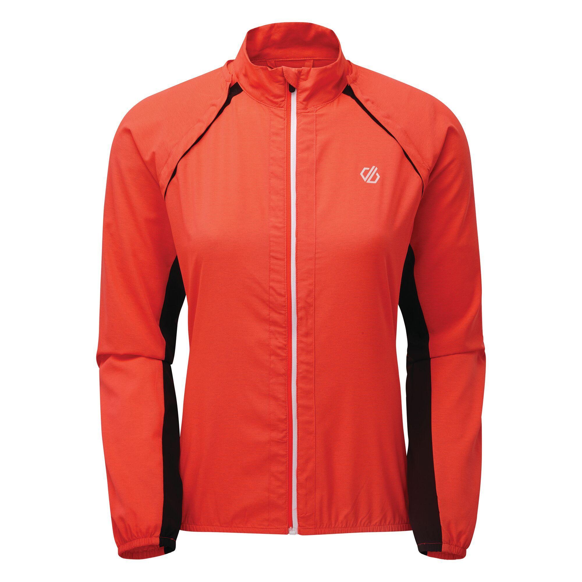 windproof running jacket in orange